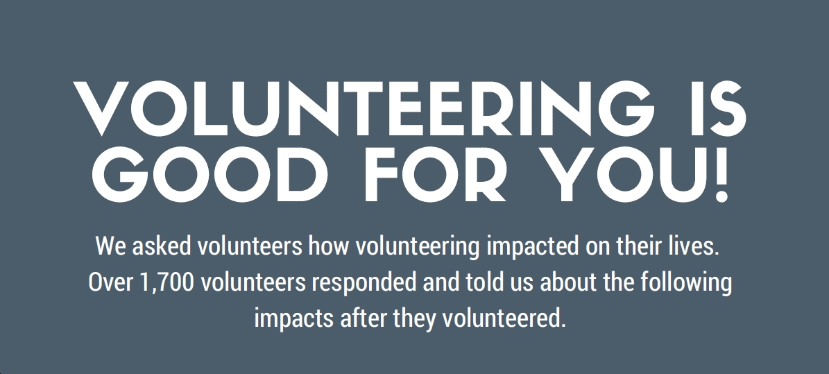 volunteering is good for you